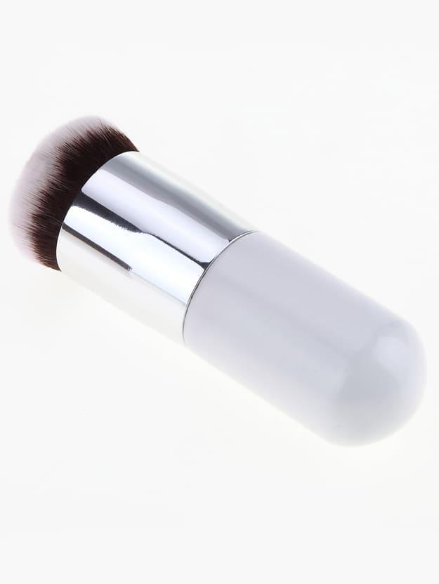Round Top Silver Mini Brush