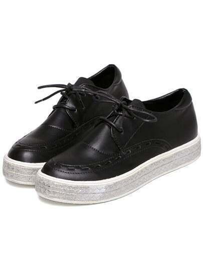 chaussures Casual en PU - Noir