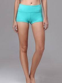 Lake Blue Elastic Sports Shorts