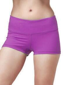 Dark Purple Elastic Sports Shorts