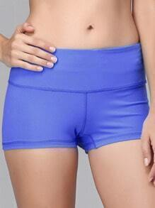 Sky Blue Elastic Sports Shorts