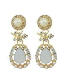 Large Rhinestone Women Drop Earrings