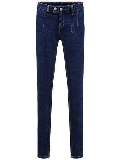 Blue Slim Denim Plus Pant