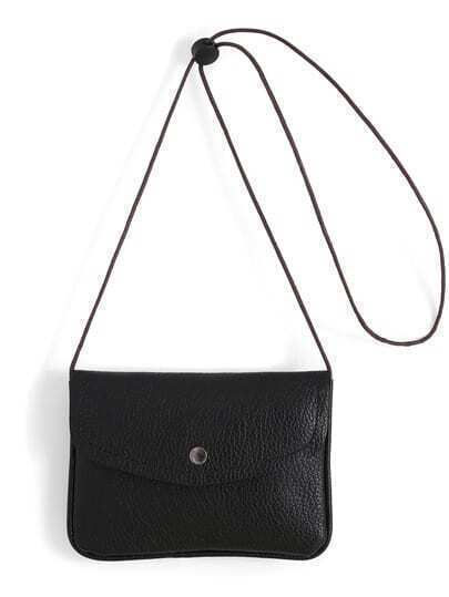 Black Casual PU Shoulder Bag