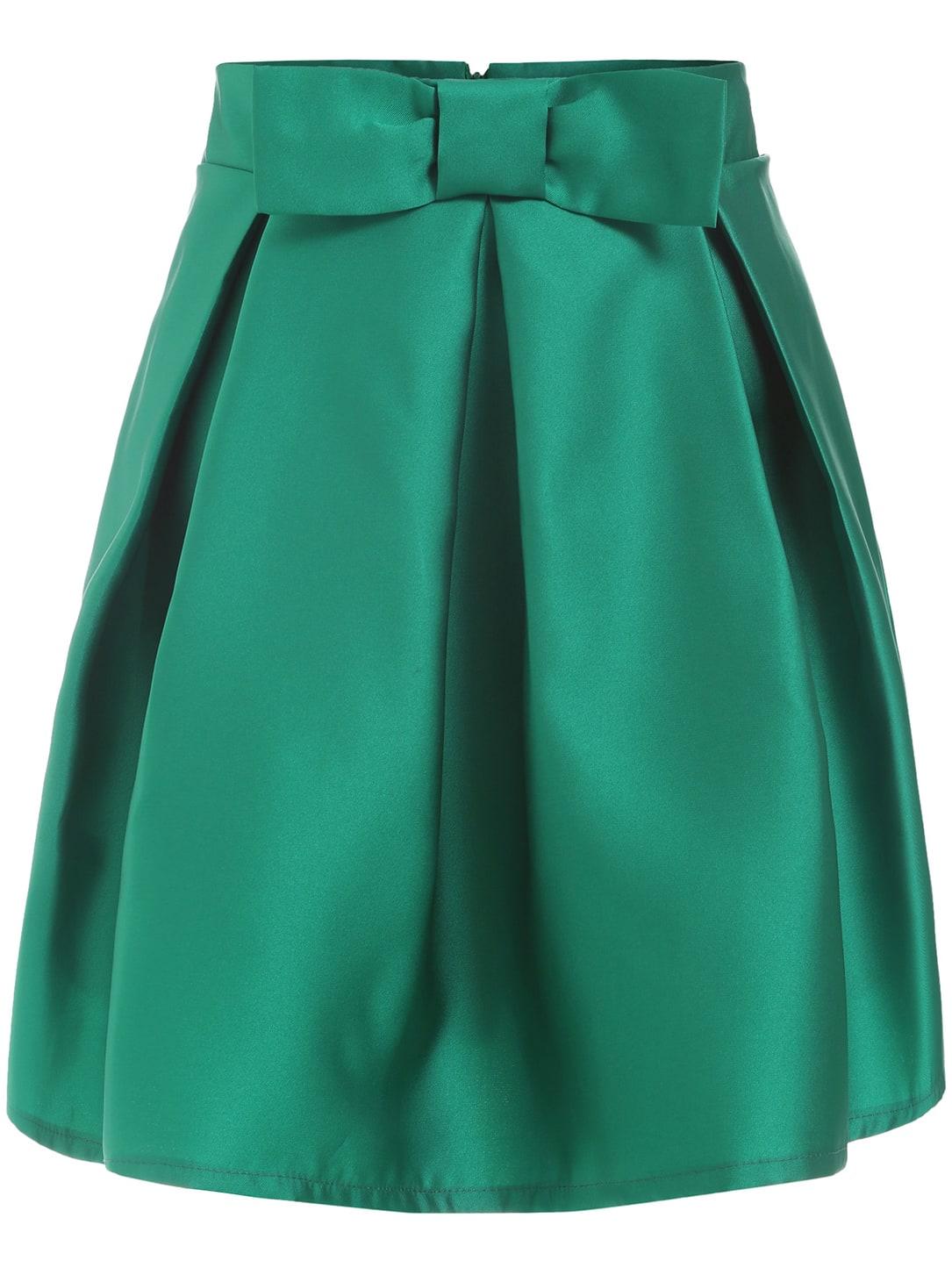 High Waist Bow Skirt 34