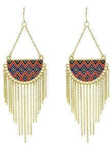 Gold Long Tassel Earrings