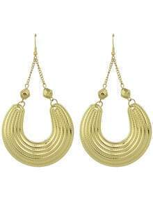 Aulic Style Gold Plated Drop Big Earrings