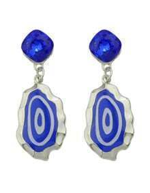 New Trendy Blue Enamel Drop Fancy Earrings For Girls