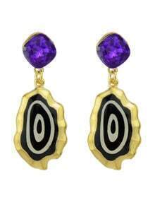 New Trendy Black Enamel Drop Fancy Earrings For Girls