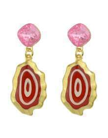New Trendy Red Enamel Drop Fancy Earrings For Girls