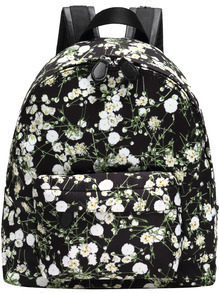 Multicolor Casual Floral Backpack
