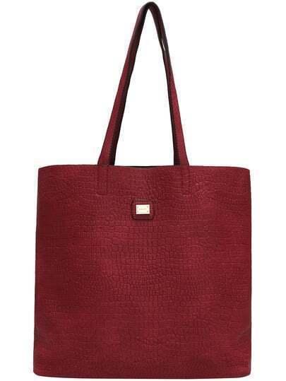 Red Crocodile PU Shoulder Bag