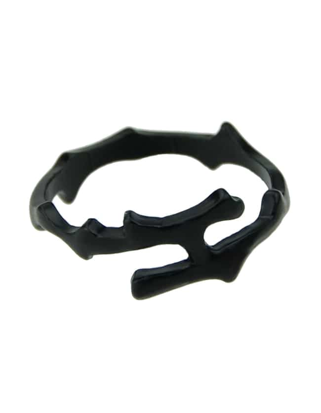 Alloy Black Punk Rock Style Unique Metal Rings For Women