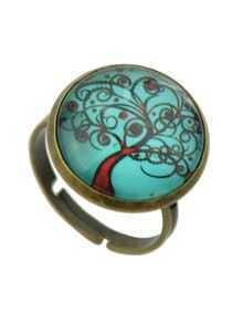 Lakeblue Amber Style Adjustable Tree Shape Rings For Women