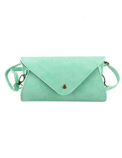 Green Pu Leather Handbag