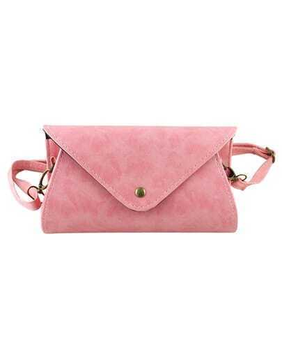 Pink Pu Leather Lady Handbag