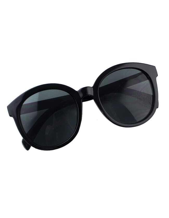 Фото Black Oversized Round Sunglasses. Купить с доставкой