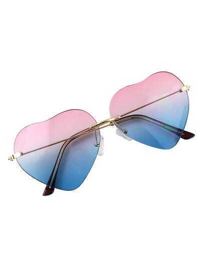 Pinkblue Heart Shape Women Sunglasses