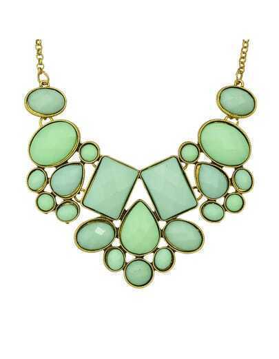 Green Gemstone Women Necklace