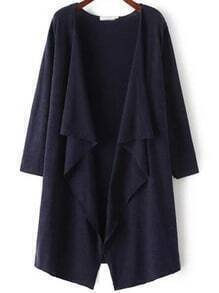Navy Long Sleeve Loose Casual Cardigan