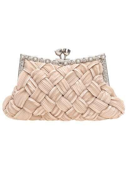 Pink Kiss Lock Satin Clutches