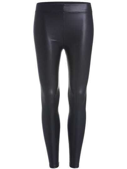 Black Skinny PU Leggings