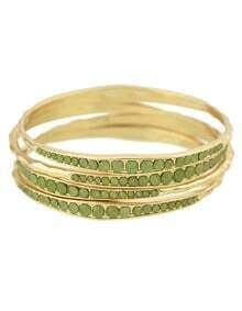 Gold Plated Olive Daily Wear Latest Beads Bracelet Bangle