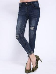 Scratch Patch Denim Pant