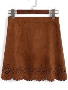 Scalloped Hem Hollow Skirt