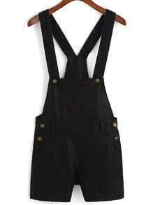 Strap With Pockets PU Romper