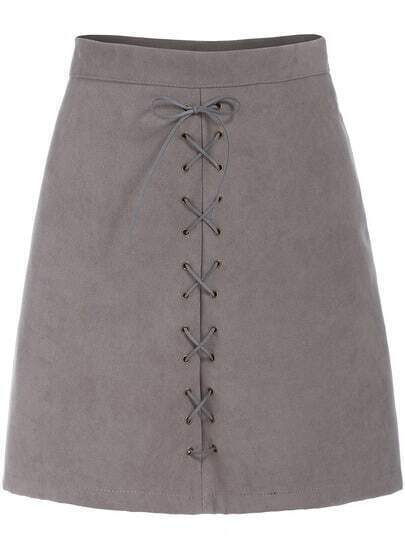 Grey Bandage Slim Skirt