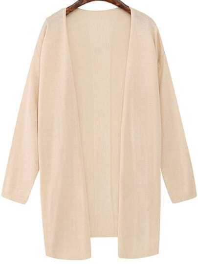 Long Sleeve Knit Apricot Cardigan