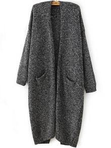 Back-Slit With Pockets Loose Cardigan