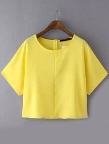 Contrast Edge Yellow Top
