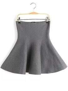 Knit Flare Grey Skirt