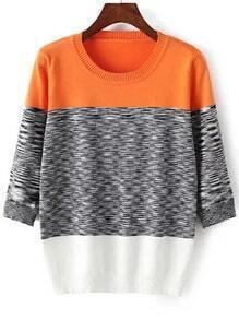 Knit Loose Orange Sweater
