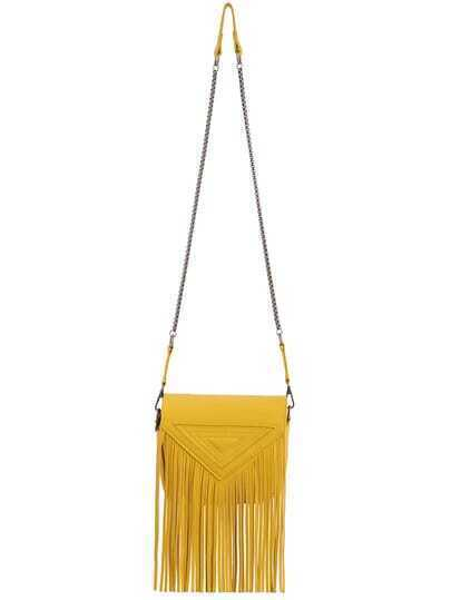 Yellow Magnetic Tassel PU Shoulder Bag