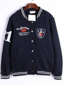 Royal Blue Cubs Embroidered Jacket