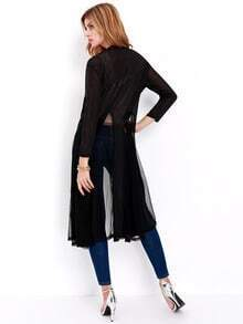 Black Long Sleeve Loose Knit Cardigan