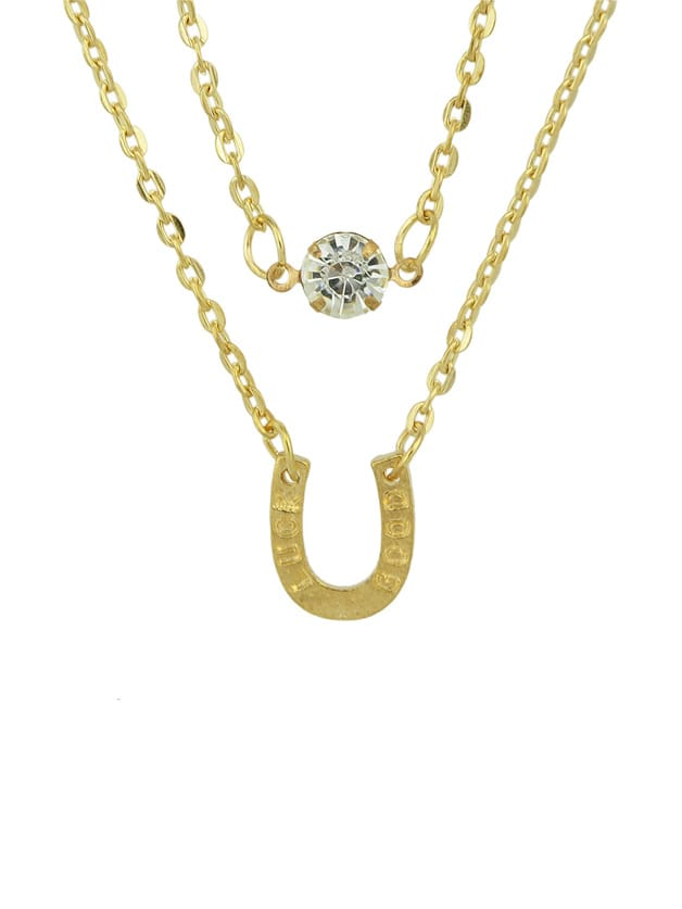 Фото Gold Plated Multilayers Chain Necklace. Купить с доставкой