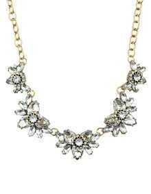 White Rhinestone Women Necklace