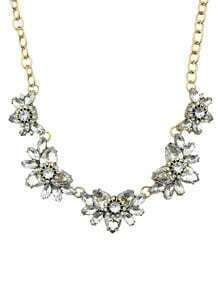 Shourouk Style White Rhinestone Fashion Necklace For Women