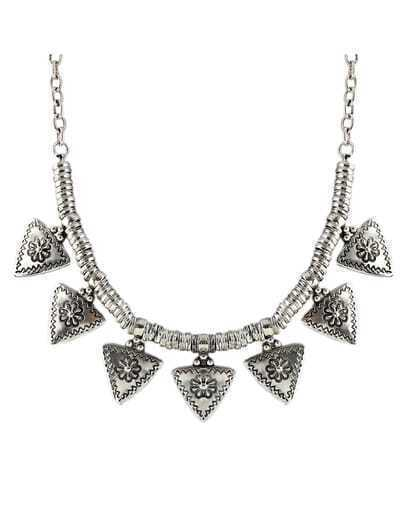 Triangle Charms Statement Necklace