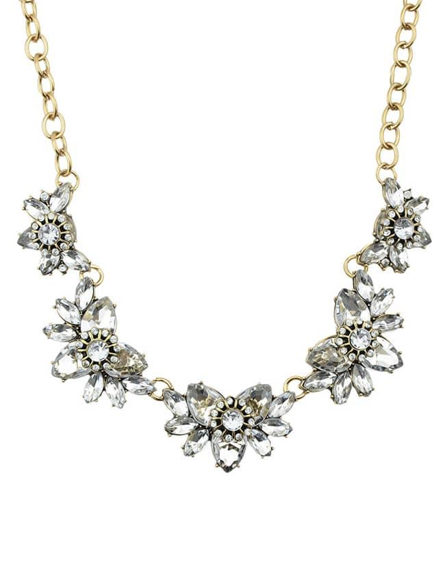 Shourouk Style White Rhinestone Fashion Necklace For Women