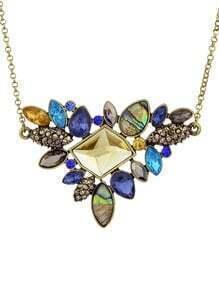 Shourouk Style Bijoux Colorful Imitation Crystal Women Stone Necklace