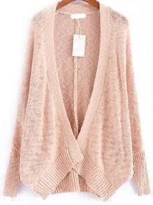 Bat Sleeve Pink Cardigan
