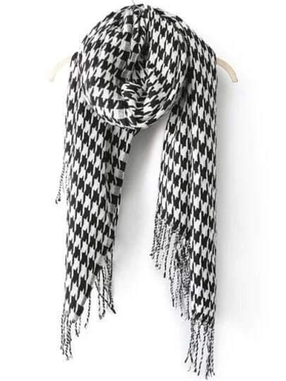 Sciarpa Pied de poule nera & bianca immagini
