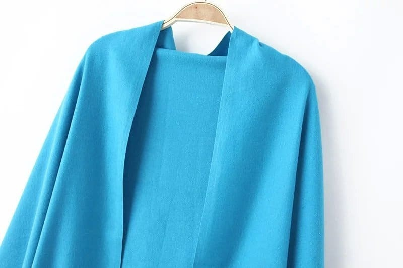 charpe la mode avec franges turquoise french shein sheinside. Black Bedroom Furniture Sets. Home Design Ideas