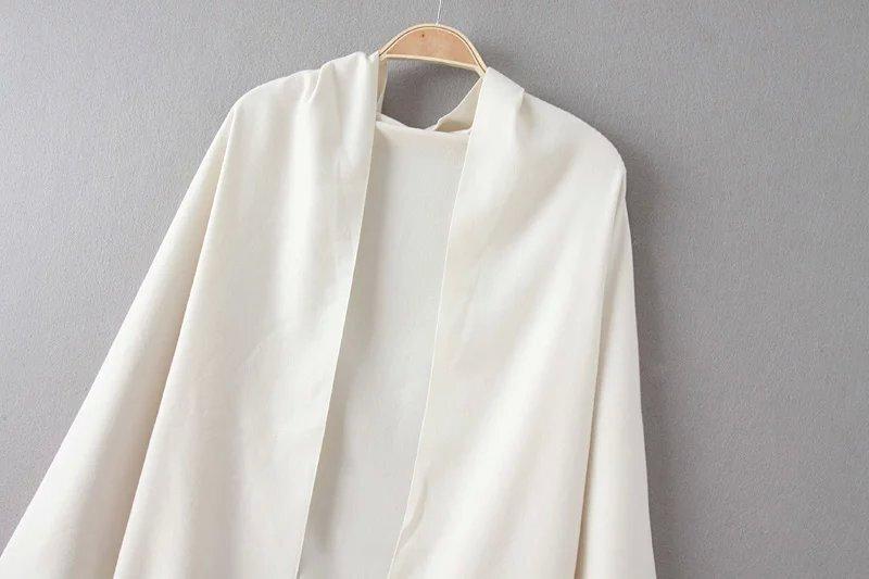 charpe la mode avec franges blanc french shein sheinside. Black Bedroom Furniture Sets. Home Design Ideas