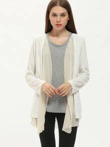 Apricot Long Sleeve Loose Knit Cardigan